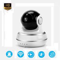 Wholesale Ip Surveillance Camera Megapixel - Surveillance Camera Q10 Pan Tilt 1.0 Megapixel Sensor P2P IP Camera Pat Monitor Two Way Audio WiFi Camera Baby Monitor