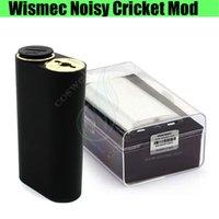 Wholesale Hybrid Mods - 100%Authentic Wismec Noisy Cricket Mod SMPL Button Hybrid Bottom Dual 18650 Indestructible RDA Atomizers full machine e cigs Vapor mods DHL