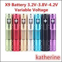 Wholesale Ego Upgrade Variable Voltage - X9 Battery 1300mah eGo E Cigarette Variable Voltage 3.2V-4.2V X6 Upgraded Battery for CE4 CE5 Mini Protank 2 3 Aerotank Mega V2 Atomizer