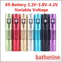 X9 Batterie 1300mah eGo E Cigarette Variable Voltage 3.2V-4.2V X6 Batterie améliorée pour CE4 CE5 Mini Protank 2 3 Aerotank Mega V2 Atomizer