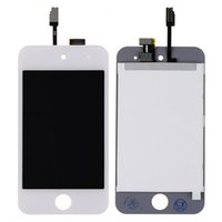 Wholesale Touch 4th Lcd Display - Wholesale-White For ipod Touch 4 4th 4G LCD Display Touch Screen with Digitizer Assembly + free Tools and Adhesive