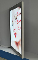 lumière du tableau de menu achat en gros de-A2 argenté Slimline Aluminium LED Light Box / Menu Board / Affichage LED