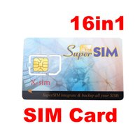 Wholesale New Phone 16 - New Arrival 16 in 1 Max SIM Cell Phone Magic Super Card Backup Normal sim card and nano sim card