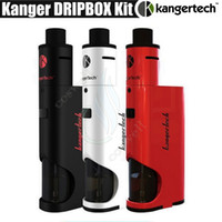 Wholesale mega box - Authentic Kanger Dripbox Kit 0.2ohm 7ml Subdrip Tank 60W Dripmod Box Mod KangerTech Topbox mini SUBVOD Mega vapor mods Kits e cigarette DHL