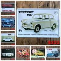 Wholesale wall decor stickers kids cars - Vintage Car TIN SIGN Retro Wall Decor Retro Metal Craft Pub Decoration 20*30 CM Free Shipping