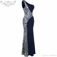 Wholesale Red Mermaid Dress Stores - New white black Striped pattern Evening Dresses (Excellent store Romanticweddinggown)