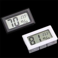 indicador de temperatura interior al por mayor-Al por mayor-Mini Digital LCD Temperatura interior Medidor de humedad Termómetro Medidor de higrómetro