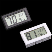 Wholesale Mini Thermometer Wholesale - Wholesale-Mini Digital LCD Indoor Temperature Humidity Meter Thermometer Hygrometer Gauge