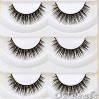 Wholesale Cute Extension - Wholesale-5 Pairs Cute Thick Cross Makeup Soft Eye Lashes Extension Make Up Beauty False Eyelashes Cosmetic