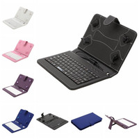 Wholesale IRULU quot inch PU Leather Mirco USB Keyboard Case Foldable Folio Stand Cover Tablet Cases for Q88 quot inch Tablet PC Colors