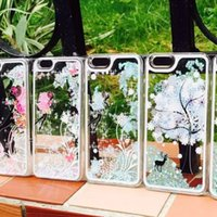 Compra Iphone Angeli-2015 HOT Lovely Angel Animal elfin Tree Quicksand Caso Duro del PC Capa Para Fundas Cover Per IPhone 6 6 Plus 5.5 pollici Spedizione Gratuita