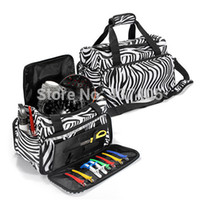 Wholesale Hair Salon Prints - Practical Luggage Travel Salon Hair Tools Hairdressing Zebra Carry Case Diaper Duffle Bag with Strap