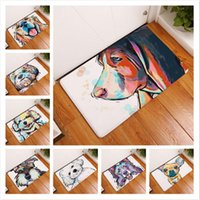 Wholesale Outdoor Dog Mats - 16 Styles 40*60cm Dog Printed Floor Rug Water Absorption Non-slip Carpets for Bedroom Bathroom Mats Kitchen Entrance Mats CCA7924 30pcs