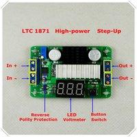 ingrosso alimentatore di tensione regolabile dc-All'ingrosso-DC-DCLTC1871 Convertitore boost regolabile Modulo step-up ad alta potenza LED blu Tester / interruttore a pulsante [3 pezzi / lotto]