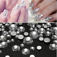 Wholesale Rhinestone Home Phones - 1 Set of 600pcs Mix Size Clear Crystal Rhinestones DIY Tools For Phone Scrapbooking Home Decor Cases Accessories