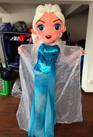 Wholesale Christmas Party Outfit Characters - Custom Made Froze elsa Outfit Mascot Costumes for Halloween christmas Birthday Party Costume Character Outfit Fancy dress