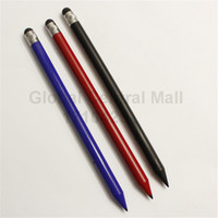 Wholesale Apple Pencils - Wholesale-Wholesale 3pcs* 100% New Universial Pencil Stylus Touch Screen Pen for phone pad tablet blue black red