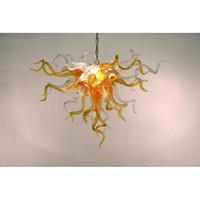 rohr-kronleuchter großhandel-Longree 110v-240v LED Birnen-Art-Leuchter Überlegene Qualitäts-orange Hotel-Vorhalle durchgebrannte Glasrohr-Leuchter-Dekoration
