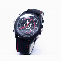 Wholesale Digital Watch Usb - Fashion digital watch camera waterproof hidden camera video watch 16GB USB disk Web cam take photos mini camcorder