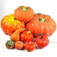 Wholesale Artificial Pumpkins - Wholesale-Artificial pumpkin fake vegetables halloween decoration artificial pumpkin free shipping