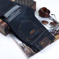 Wholesale Button Fly Men S Jeans - 2016 new italy brand jeans men's denim trousers a fashion cotton jeans mani pants male calca men famous brand classic denim jeans