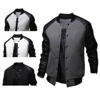 Wholesale American Jackets - Mens American Style Varsity Baseball Letterman College University Jacket Coat Outwear Men's Winter Jacket Free shipping