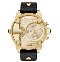 ingrosso orologi da polso maschili-DZ LOGO Top Luxury Mens Orologi Top Brand di Lusso Militare Sport Orologio al quarzo Uomo Cronografo Mani Luminose Orologio Maschile relogio masculino