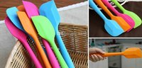 Wholesale Wedding Candy Color Silicone Cake Spatula Batter Scraper For Snowflake Cake Tools