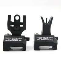 """Wholesale Battle Sights - Wholesale """"Y"""" Troy Front And Rear Folding Battle Iron Sights for M4 Free Shipping"""