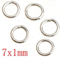 Wholesale 7mm Split Rings - sterling silver plated jump rings diy iron metal open round 1mm thick new fashion wholesales jewelry findings 5mm 7mm shipping free 500G