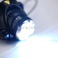 phare projecteur lampe zoom réglable achat en gros de-Phare lumineux à DEL 1800LM CREE XM-L XML T6 Phare Zoom réglable Zoom Phare réglable Lampe torche LED + Chargeur