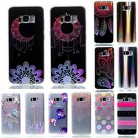 Wholesale case for star a3 - Bling Flower Butterfly Soft TPU Case For Galaxy S8 Plus S7 Edge (J7 J5 J3 A5 A3)2017 Dreamcatcher Stripe Star Horse Plating Chromed Cover