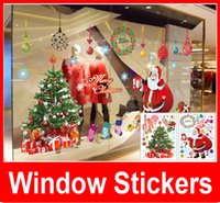 Wholesale Mirror Garlands - Merry Christmas Wall Stickers Christmas Tree Garland for Home Decor Outdoor Christmas Decorations Window Decoration Wall Sticker