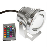 Wholesale White Underwater Fish Tank Light - 16 Colors 10W 12V RGB LED Underwater Fountain Light 1000LM Swimming Pool Pond Fish Tank Aquarium LED Light Lamp IP68 Waterproof