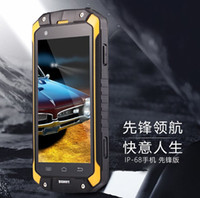 Wholesale Dual Sim Green - Discovery V9 Waterproof IP68 Cell Phone Dual Core MTK6572 1.3GHZ 8MP 4000mAh 3G GPS Dustproof Shockproof Outdoor Phone