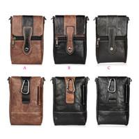 Wholesale Vertical Flip Wallet Case - 6.3inch Vertical Hip Leather For iphone X 8 7 Plus 6 6S SE Galaxy Note8 S8 Plus Shoulder Pouch Cases Buckle Flip Pouch Belt Purse Clip Cover