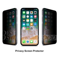 Wholesale Screen Protectors Privacy - Privacy Tempered Glass for Iphone X Iphone 7 Plus Iphone 6S Plus 5 Samsung Galaxy S7 S6 S5 Note 5 Screen Protector Anti-Spy