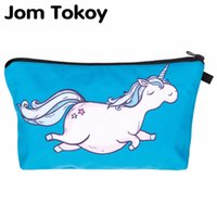 Jom Tokoy Hot-selling Travel 3D Printing Unicorn Cosmetic Bag Mulheres Brand Small Makeup Case