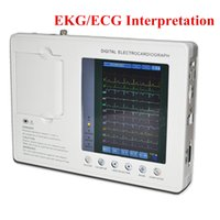 Wholesale Ecg Digital - Portable LCD display Digital 3-channel 12-lead ECG EKG Machine Shipping via DHL