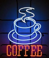 Wholesale Lighted Coffee Signs - Brand New COFFEE Real Glass Neon Sign Light Beer Bar Pub Arts Crafts Gifts Lighting 20""