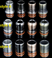 Wholesale patriot style resale online - New Style Wide Bore Stainless Steel Drip tip Mouthpiece e cigarette tank drip tip for ego WAX patriot Kanger protank Aspire Atomizer