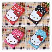 Wholesale Minnie Mouse Cases - 25PCS LOT 2016 New 3D Cute Minnie mouse Hello kitty Soft silicone Rubber Cases Cover For Apple ipad mini 4