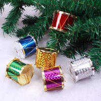 Wholesale Wholesale Hang Drum - Hanging Ornament Xmas Decorative With Balls Stars Cubes Drums Plastic Material For Home Party Wedding Decoration