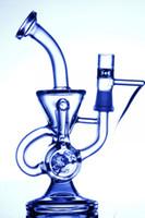 vidro duplo reciclador bong água venda por atacado-duplo reciclador bongo científico phonix bongo de vidro klein vapor recycler equipamento de óleo de vidro tubo de água pulso bio dab oil rig bong hookahs de vidro