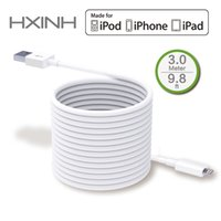 Wholesale Ipad Chargers Usb Cable - MFI Certified 3M 9.8ft Lightning 8P to USB Sync & Charger Cable, for Apple iPhone 5 5s 5c 6 6s Plus iPad 4 Air Mini 2 Lengthening round cord