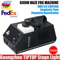 Wholesale Hazer Smoke - Wholesale-New Arrival 600W Hazer Fog Machine DMX512 Hazer Fog Machine 600W Smoke Machine 90V-240V Warm Up 2Minuts 1.5L Tank Capacity
