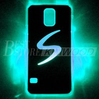 Wholesale Samung Galaxy Covers - 2015 LED Cell Phone Cases LED Phone Cover for Samung galaxy S5 LED Lighted Cover Cases LED Cell Phone Accessories Flash while Calling