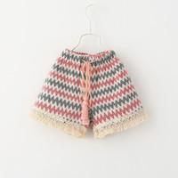 Wholesale Kids Summer Shorts Older - 2015 Kids Girls Knitting Tassel Fashion Shorts Princess Kid New Arrival Waves Belts Casual Fall Short Pants 6pcs Lot for 2-7 Years Old Girls