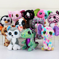 Wholesale Plush Toy Big Dog - TY beanie boos big eyes plush toy doll child birthday Christmas gift Dog elephant rabbit Penguin