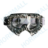 Wholesale Motocross Lens - Black-white strip clear lens goggles glasses goggles cycling ski eyewear motorcycle goggles motocross glasses cycling googles